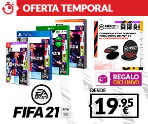 FIFA 21 + soporte movil