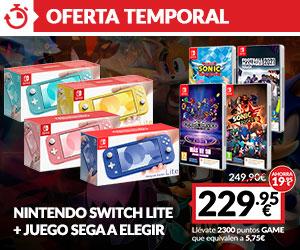 Switch Lite + juego SEGA