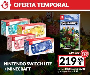 Switch Lite + Minecraft