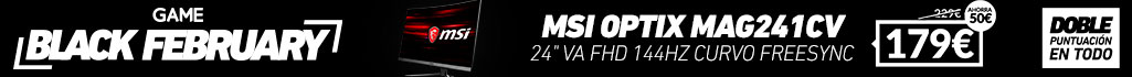 ¡Black February! MSI Optix MAG241CV