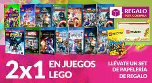 2x1 juegos LEGO