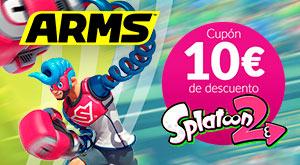 Promoción ARMS - 10€ dto. para Splatoon 2