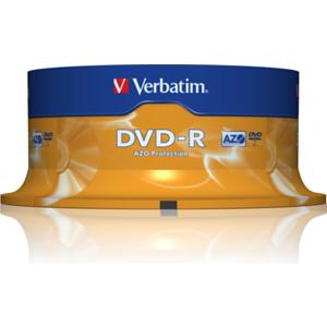 Dvd Media -R Verbatim 16X P25 4.7Gb (P_F)