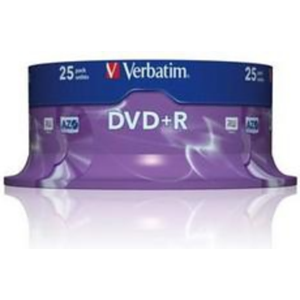 Dvd Media +R P25 4,7Gb 16X Verbatim (P_F)
