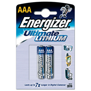 2 Pilas Energizer Recargable AAA Ultimate Lithium