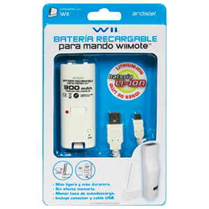 Batería para Wiimote Recargable de Litio ADT