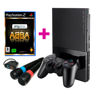 Playstation 2 Two + ABBA + 2 Micrófonos