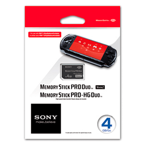 Tarjeta Memory Stick Pro Duo Sony 4Gb