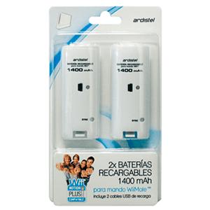 2 Baterias para Wiimote 1400 Mha Blanco