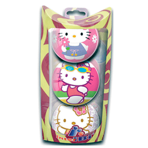 Pack 3 Pelotas Hello Kitty