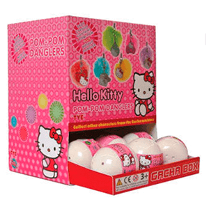Gashabox Pompom y colgante Hello Kitty