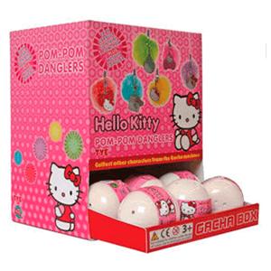Gashabox Pompom y colgante Hello Kitty
