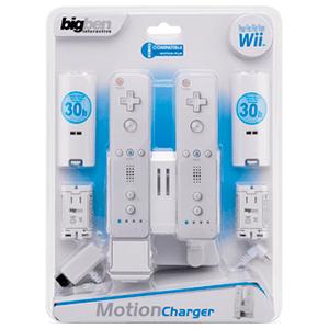 Base Carga 2 Wiimote + 2 Baterias compatible Motion Plus