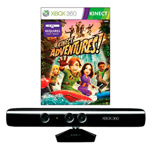 Kinect Negro Para Xbox 360 Modelo Original + Kinect Adventures