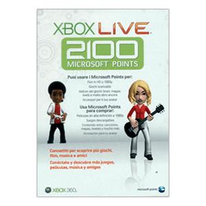 Tarjeta Xbox Live 2100 puntos (2010)