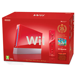 Wii Roja pack New Super Mario Ed. 25 Aniversario