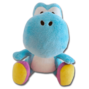 Peluche Yoshi Wii Azul 17cm