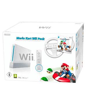 Wii Blanca + Mario Kart + Volante