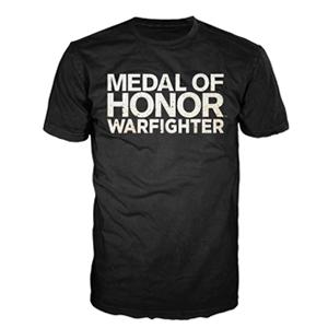 Camiseta Negra Logo MOH: Warfighter Talla M