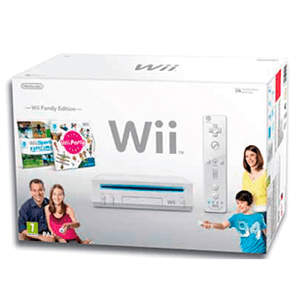 Wii Blanca + Wii party + Wii sports