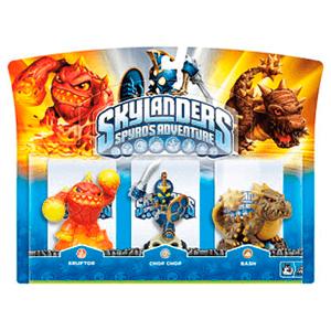 Skylanders Triple Pack C: Eruptor + Chop Chop + Bash