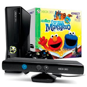 Xbox 360 4Gb + Kinect + Barrio Sesamo