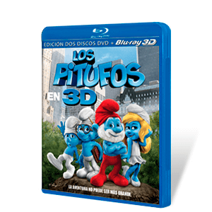 Los Pitufos Bluray 3D + DVD
