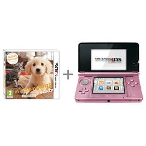 Nintendo 3DS Rosa + Nintendogs Golden Retriever