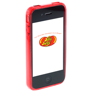 Carcasa Jelly Belly iPhone 4 Very Cherry rojo