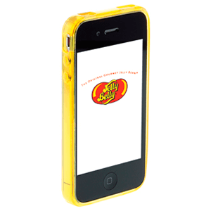 Carcasa Jelly Belly iPhone 4 Top Banana amarillo
