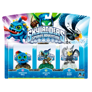 Skylanders Triple Pack D: Wrecking Ball + Stealth Elf + Sonic Boom