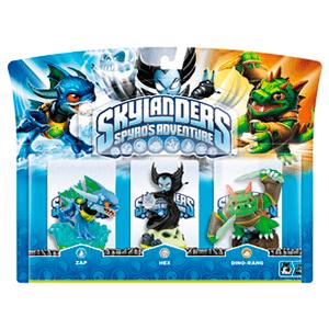 Skylanders Triple Pack E: Zap + Hex + Dino Rang