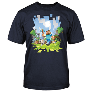 Camiseta Minecraft Adventure Talla L