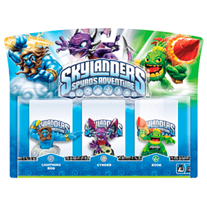 Skylanders Triple Pack G: Lightning Rod + Cynder + Zook