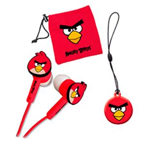 Auriculares Boton Rojos Angry Birds