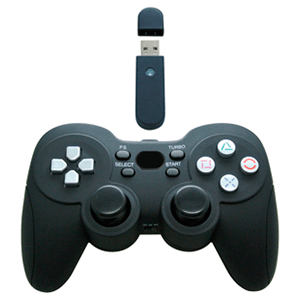 Control Pad Inalámbrico + Rumble Negro Safari