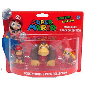 Super Mario Pack 3 Minifiguras Donkey