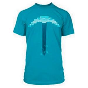"""Camiseta Minecraft """"Pickaxe"""" Azul Talla S"""