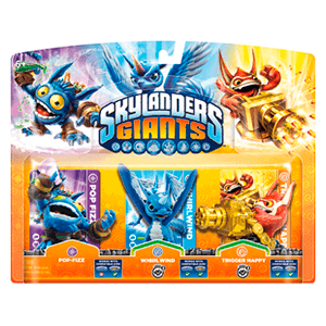 Skylanders Giants Triple Pack A: Pop Fizz + Whirlwind + Trigger Happy