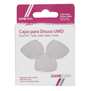 3 Cajas para Guardar Discos UMD GAMEware
