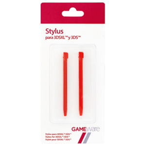 2 Stylus Rojo 3DS-XL GAMEware