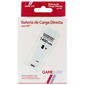 Batería Blanca de Carga Directa GAMEware