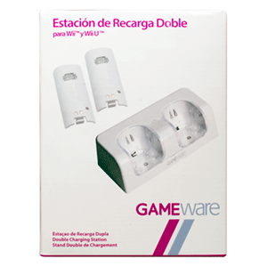 Estación Blanca de Recarga Doble GAMEware