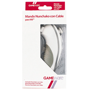 Mando Nunchako Blanco con Cable GAMEware
