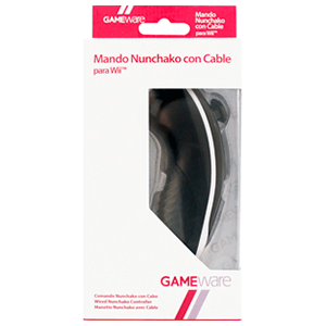 Mando Nunchako Negro con Cable GAMEware