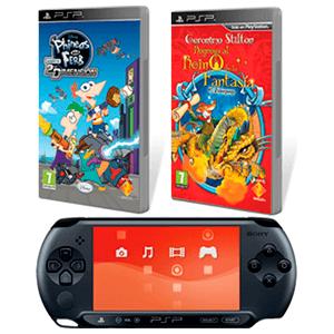 PSP E1000 + Geronimo Stilton 2 + Phineas & Ferb