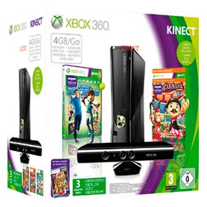 Xbox 360 4Gb + Kinect Pack 3 Meses Live