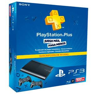 Playstation 3 Slim 500Gb + DualShock 3+PSN Plus 90