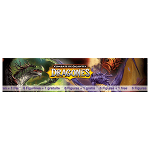 Pack 6+1 Figuras Combate de Gigantes: Dragones