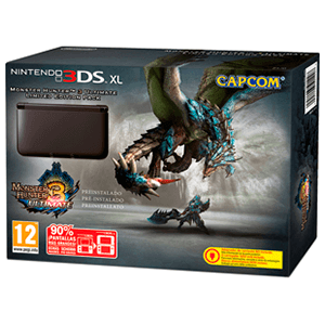 Nintendo 3DS XL Negra Monster Hunter 3 Ultimate